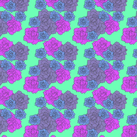 midcenturyflowers2-ed fabric by cat_moore on Spoonflower - custom fabric