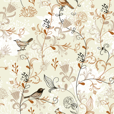 Birds fabric by yaskii on Spoonflower - custom fabric