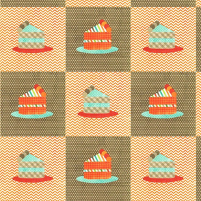 cake slices collage