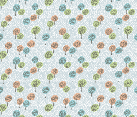 tree_breeze_BLUE_COLOURS fabric by glorydaze on Spoonflower - custom fabric