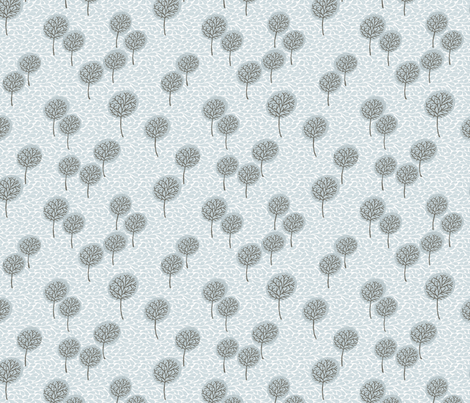 tree_breeze_blue fabric by glorydaze on Spoonflower - custom fabric