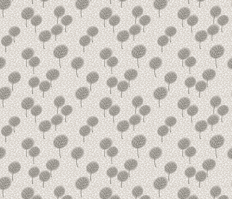 tree_breeze_beige fabric by glorydaze on Spoonflower - custom fabric