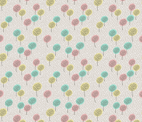 tree_breeze_BEIGE_COLOURS fabric by glorydaze on Spoonflower - custom fabric