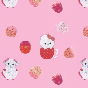 What's a tea party without cupcakes (And puppies)