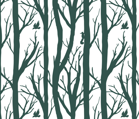 Winter Forest Habitat fabric by pixelmech on Spoonflower - custom fabric