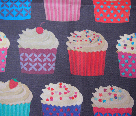 and a cherry on top - cupcakes on navy paper