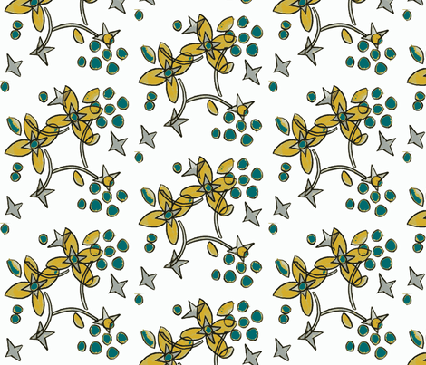 balsomroot ©2012 Jill Bull fabric by fabricfarmer_by_jill_bull on Spoonflower - custom fabric
