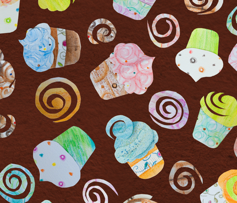 Cupcakes Galore - © Lucinda Wei fabric by lucindawei on Spoonflower - custom fabric