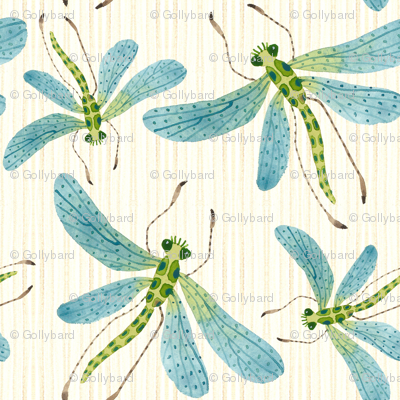 Dragonflies Natural - Frolic Collection