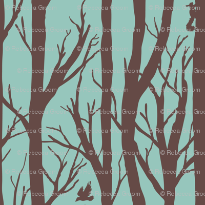 Brown and turquoise forest habitat