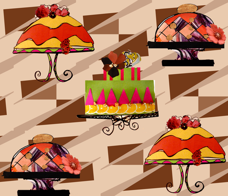cakes fabric by riztyd on Spoonflower - custom fabric
