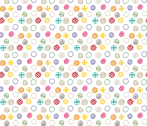 Playful Dots fabric by katebutler on Spoonflower - custom fabric