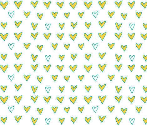 Heart Dots fabric by katebutler on Spoonflower - custom fabric