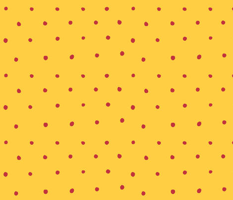 Yellow and Red Circle Dots fabric by katebutler on Spoonflower - custom fabric