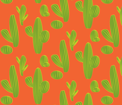 saguaro-green fabric by lkglioness on Spoonflower - custom fabric