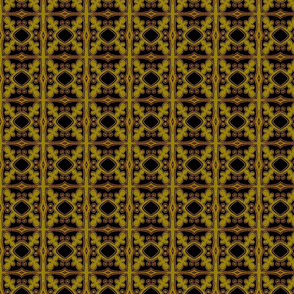 Interlock Gold & Black Blocks