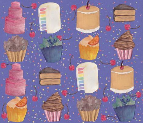Patterned Paper Cakes fabric by glindabunny on Spoonflower - custom fabric