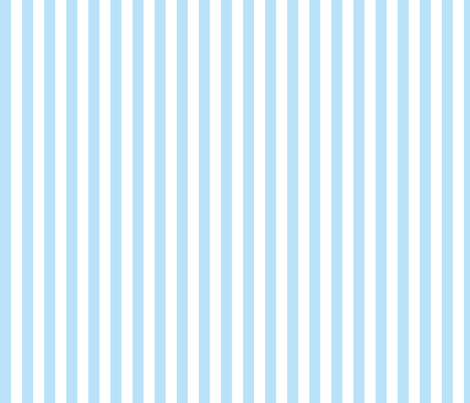light blue and white 1/2 inch stripe fabric by littlemisscrow on Spoonflower - custom fabric