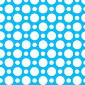 Aqua White Dots