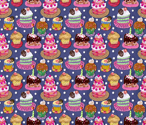 Paper-Cut-Cakes fabric by irrimiri on Spoonflower - custom fabric