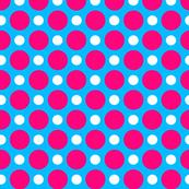 Aqua Pink White Dots