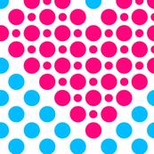 Pink Aqua Heart Dots