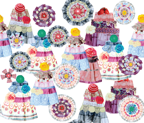 Frabric_cakes_and_flowers-01 fabric by maribel on Spoonflower - custom fabric