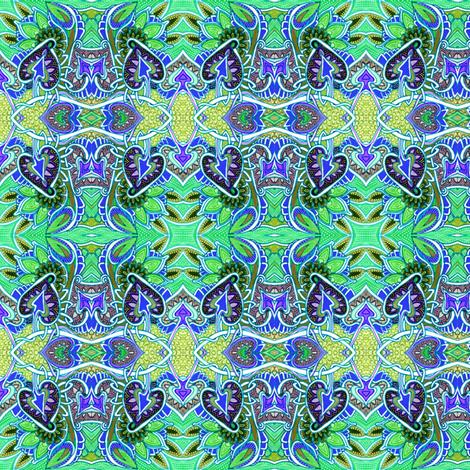 Swimming Spades Horizontal Stripe fabric by edsel2084 on Spoonflower - custom fabric