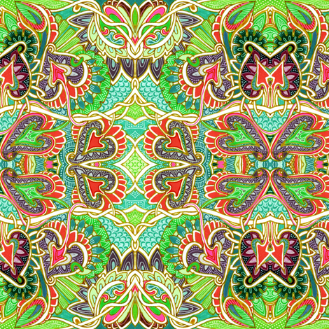 Psychedelic Gypsy in Spades fabric by edsel2084 on Spoonflower - custom fabric