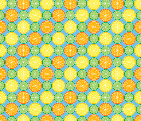 Citrus Slices fabric by jjtrends on Spoonflower - custom fabric