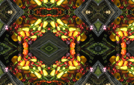 Hot Pepper Geo Pattern