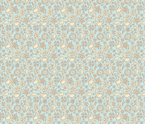 Beach House Filigree fabric by hugandkiss on Spoonflower - custom fabric