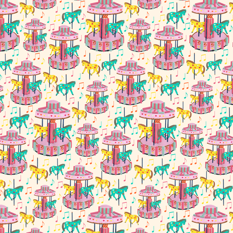 Carousel Cakes fabric by inscribed_here on Spoonflower - custom fabric