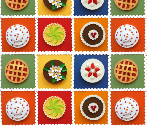 100 Percent Paper Cakes fabric by the_pear_trees on Spoonflower - custom fabric
