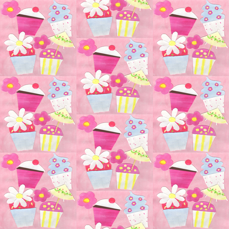 Cupcakes fabric by arttreedesigns on Spoonflower - custom fabric