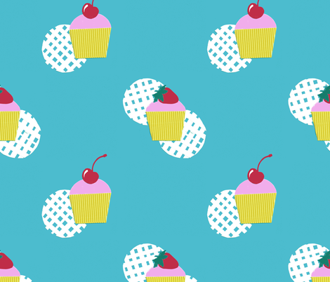Cupcakes fabric by siya on Spoonflower - custom fabric