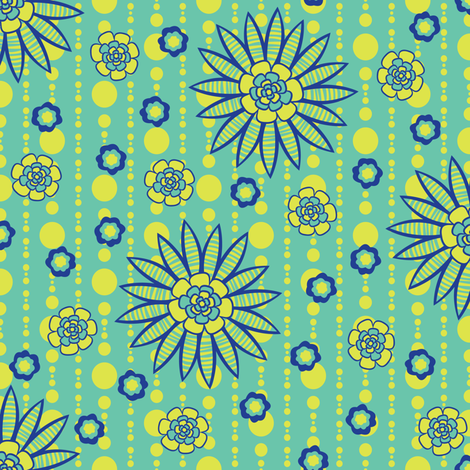 Afternoon Garden Party fabric by robyriker on Spoonflower - custom fabric