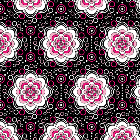 Bubbles in Bloom-pink fabric by jjtrends on Spoonflower - custom fabric