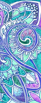 Pastel Paisley Aqua Heart