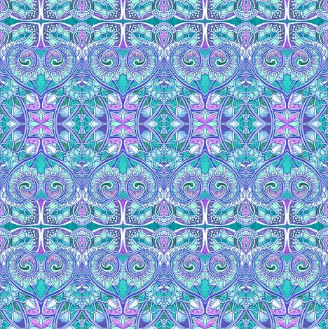 Pastel Paisley Aqua Heart fabric by edsel2084 on Spoonflower - custom fabric