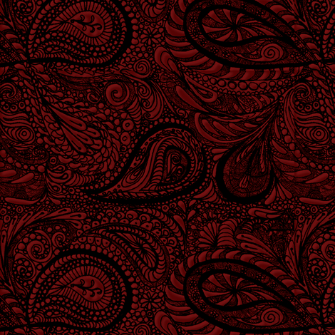 Black_Lace2 fabric by wiccked on Spoonflower - custom fabric