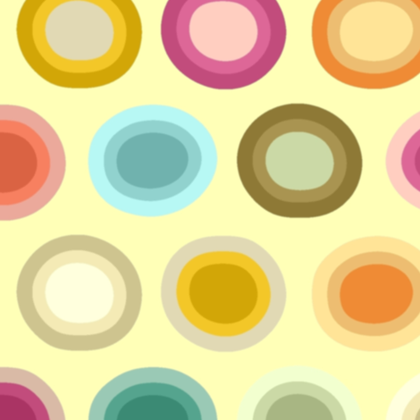 polka creamy fabric by scrummy on Spoonflower - custom fabric