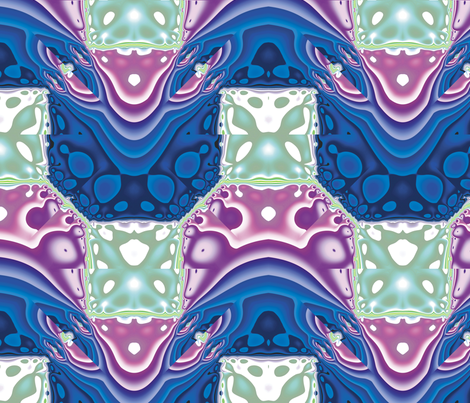 Fractal Mirror 2 fabric by animotaxis on Spoonflower - custom fabric