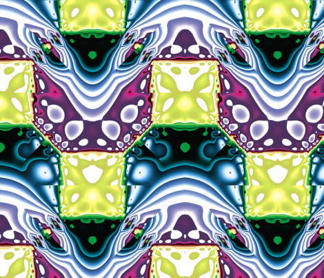 Fractal Mirror 6 fabric by animotaxis on Spoonflower - custom fabric
