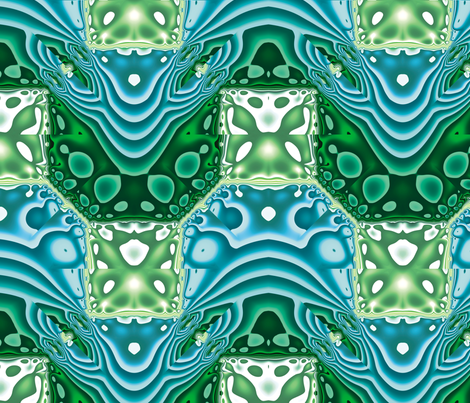 Fractal Mirror 7 fabric by animotaxis on Spoonflower - custom fabric