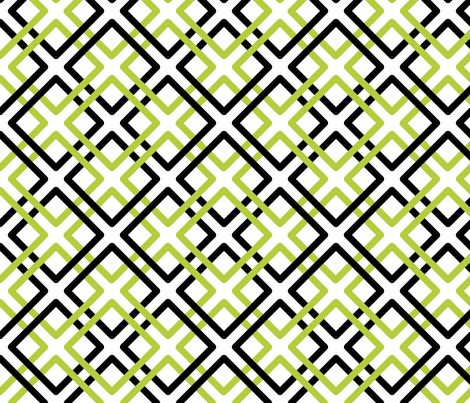 Modern Weave in Green and Black fabric by fridabarlow on Spoonflower - custom fabric