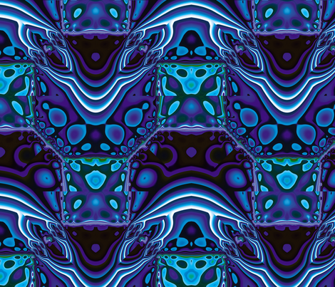 Fractal Mirror 16 fabric by animotaxis on Spoonflower - custom fabric