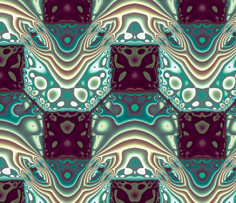 Fractal Mirror 18 fabric by animotaxis on Spoonflower - custom fabric