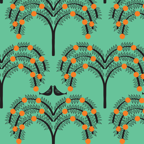 Orange Grove 4 fabric by sary on Spoonflower - custom fabric