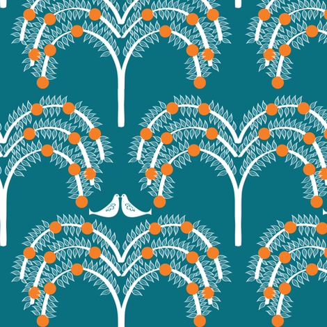 Orange Grove 2 fabric by sary on Spoonflower - custom fabric